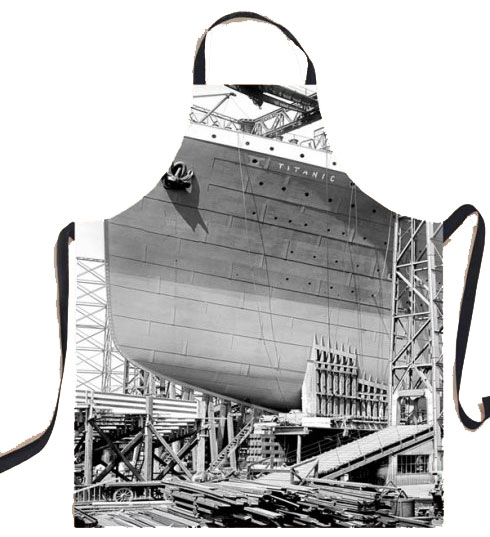 Titanic Gantry Cotton Bib Apron