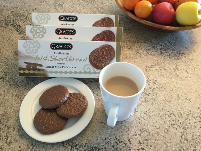 Grace's Irish Shortbread Coated in Milk Chocolate 170g x 3 packs