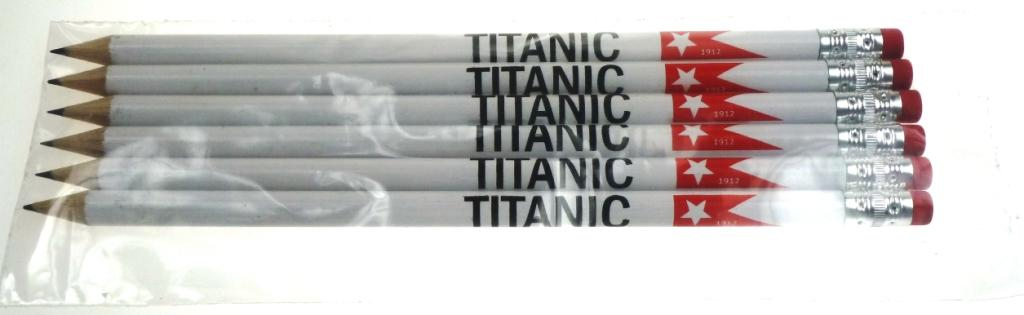 Titanic | Pencils With Eraser | Pack Of 6