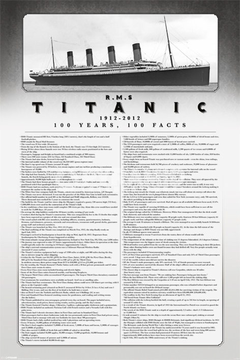 Titanic | 100 Years | 100 Facts | Poster