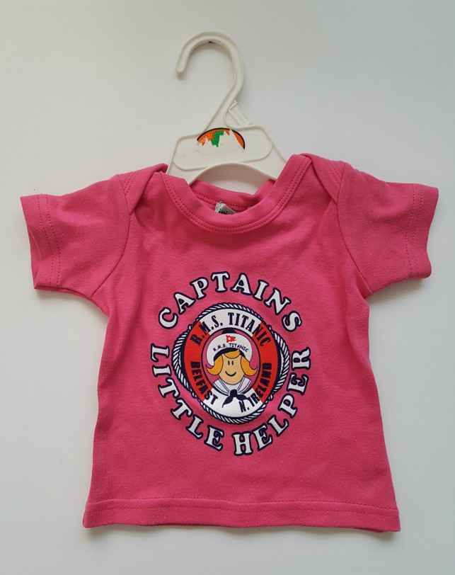 Titanic Captains Baby Tee Shirt - Pink