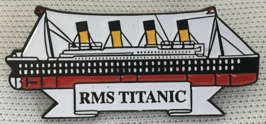 RMS Titanic Metal Enamel Lapel Badge