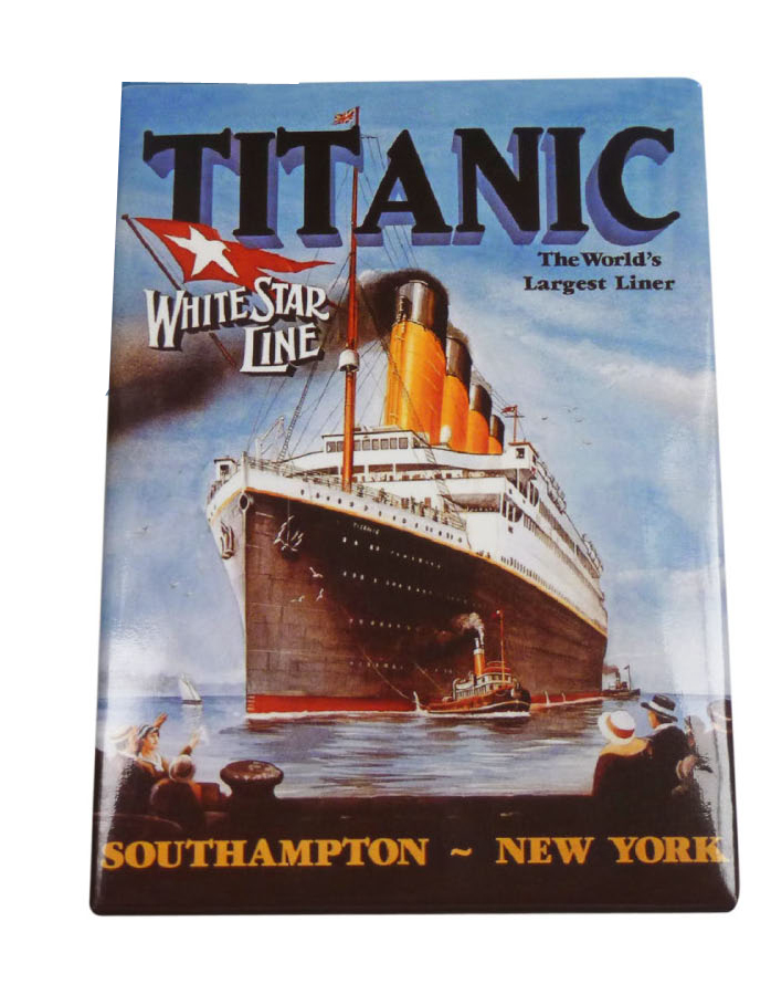 Titanic Pictorial Metal Rectangular Fridge Magnet