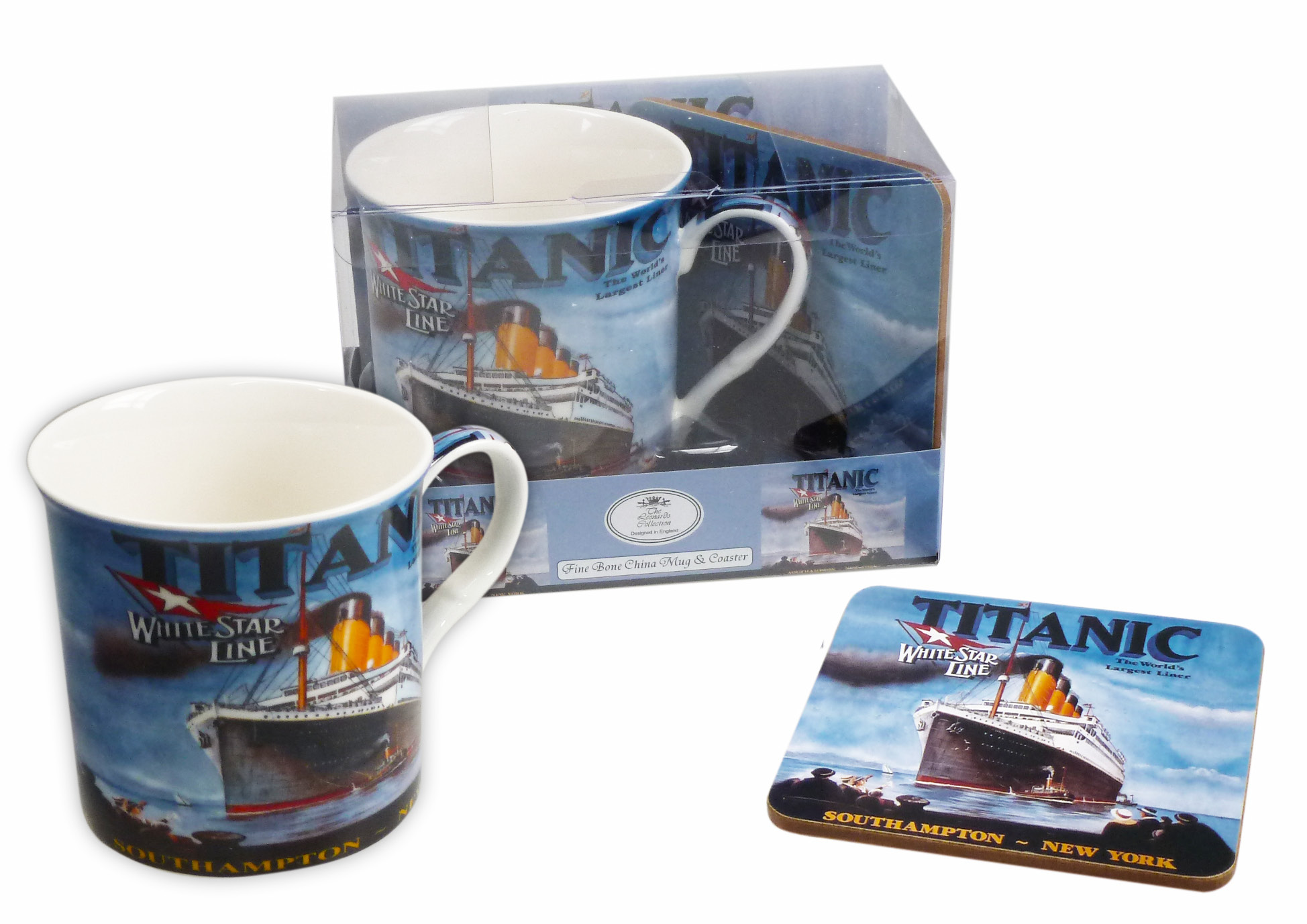 Titanic Ceramic Mug & Coaster Gift Set