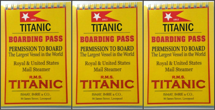 Titanic Boarding Pass Kids A6 Spiral Notebooks - Set of 3