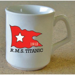 RMS Titanic White Star Flag Ceramic Mug 1912