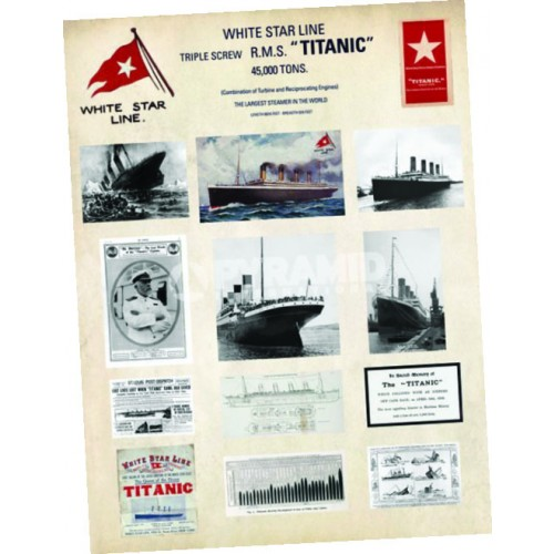 Titanic Collage Art Print 32 x 24 inch