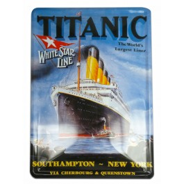 Titanic Pictorial Metal Wall Sign