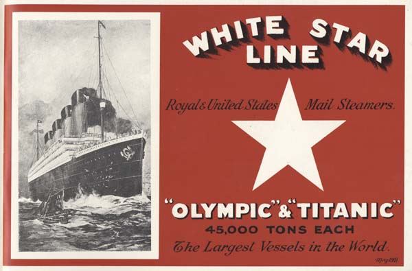 White Star Line Linen Tea Towel