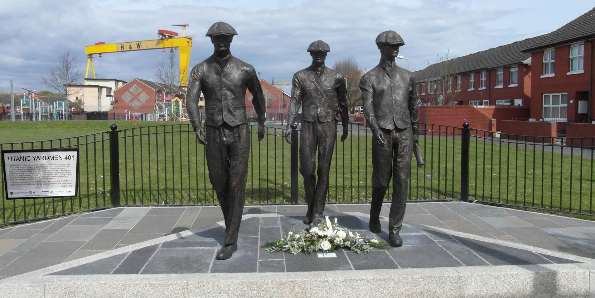 Titanic Yardmen 401 Statues, Belfast