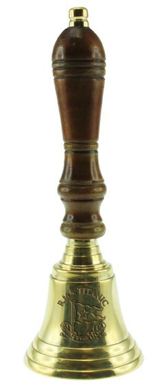 RMS Titanic Brass Hand Bell 3 inch