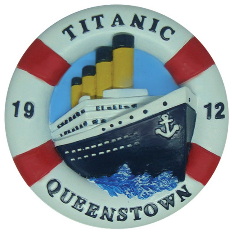 Titanic Queenstown 1912 Fridge Magnet
