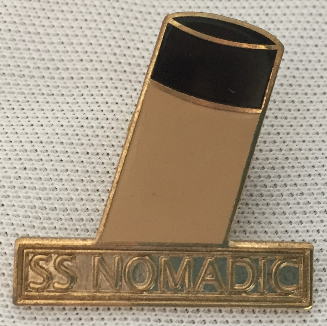 SS Nomadic Lapel Pin Badge
