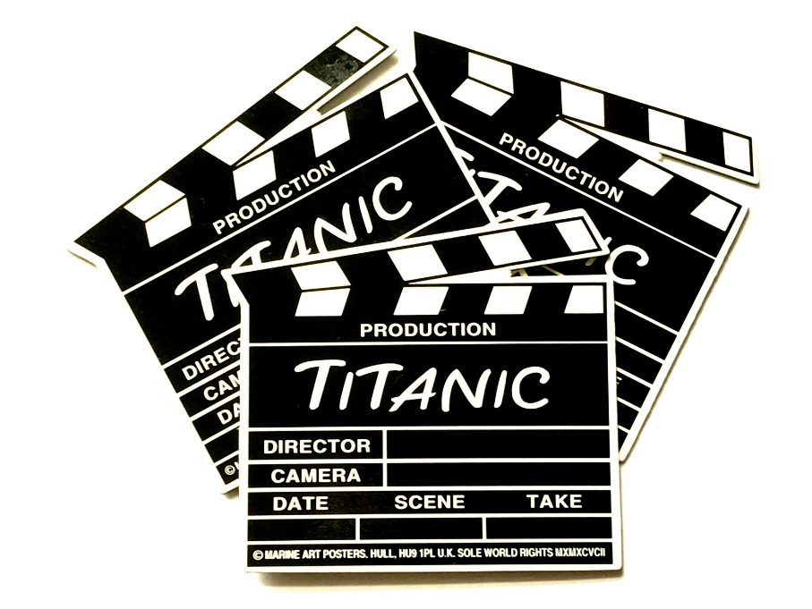 The Titanic Clapperboard Fridge Magnet - Set of 3