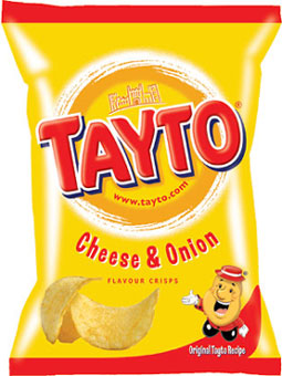 Tayto | Cheese & Onion | Potato Crisps | 35g Bags x 24