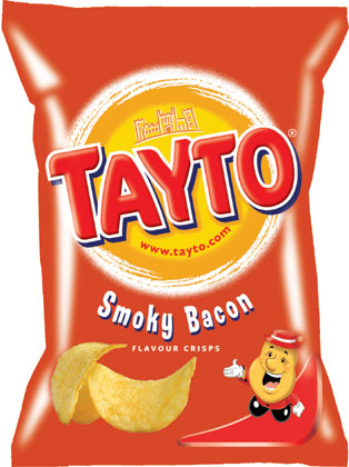 Tayto ¦ Smokey Bacon ¦ Potato Crisps ¦ 35g Bags x 24